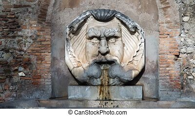 Fountain in the Orange Garden, Rome, Italy Giardino degli Aranci, winter