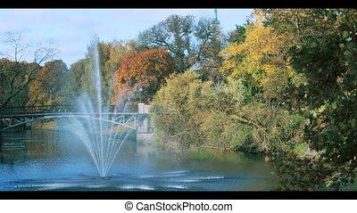 Fountain  in the park of Riga