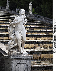 Fountain in the Peterhof - Statue of the fountain in the...