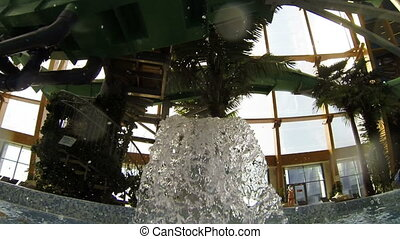 Fountain in the water Park