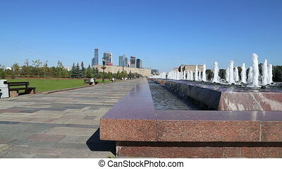 Fountain in Victory Park, Moscow