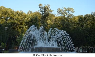 Fountain in Vrnjacka Banja, Serbia - Fountain in a public...