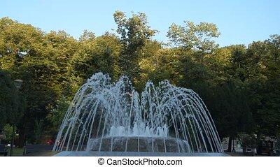 Fountain in Vrnjacka Spa, Serbia - Fountain in a public park...