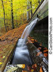 Fountain in Yedigoller National Park, Bolu, Turkey - ...