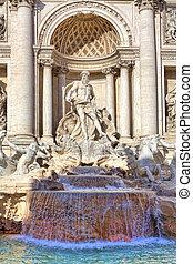 fountain., italy., ローマ, trevi