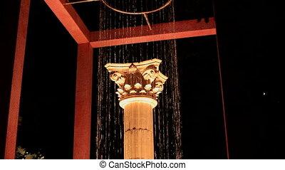 Fountain next to the column