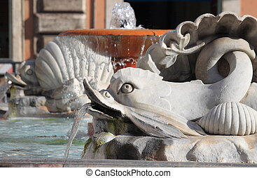 Fountain of Colonna Square in Rome, Italy