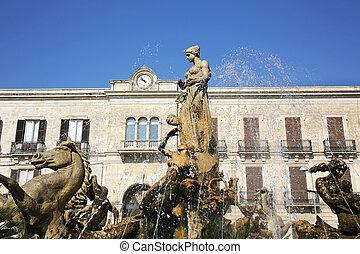 Fountain of Diana Syracuse Sicily