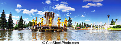 Fountain of Friendship of Peoples. Moscow, ENEA.