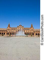 fountain of Plaza de España, Seville, Spain