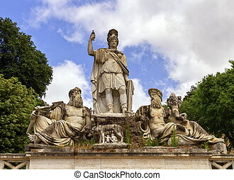 Fountain of the Goddess in Roma, Italy