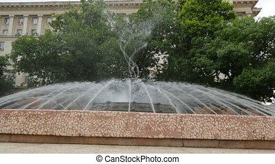 Fountain on street in Sofia