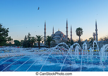 sultanahmet - fountain on sultanahmet area in day time