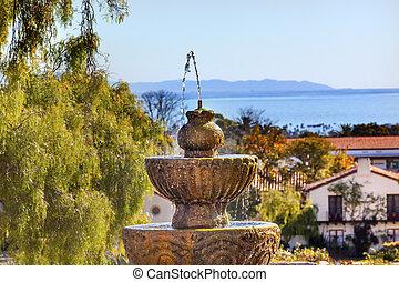 Fountain Pacific Ocean Mission Santa Barbara California