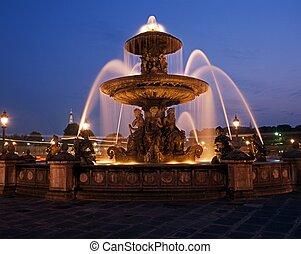 Fountain, Paris, France.