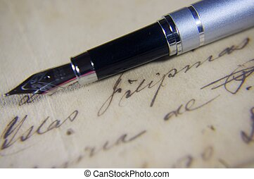 Fountain pen and classical writing