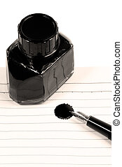 fountain pen and notebook