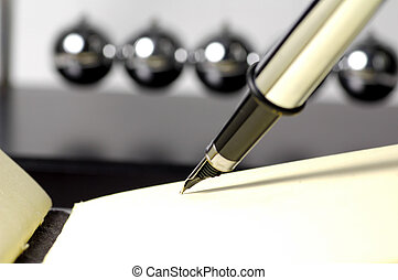 Fountain Pen and Pad - Foutain Pen and Pad With Newtons...