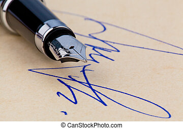 Fountain pen and signature - A fountain pen and a signature...
