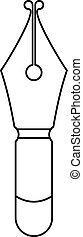 Fountain pen nib icon outline