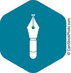 Fountain pen nib icon simple