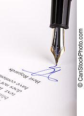 Nib of fountain pen