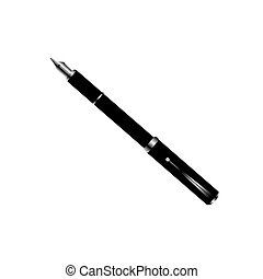 Fountain pen on a white background. Vector illustration.