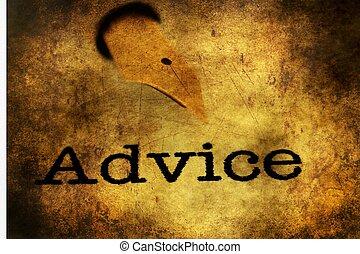 Fountain pen on advice grunge concept
