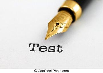 Fountain pen on test