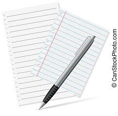 fountain pen vector illustration isolated on white...