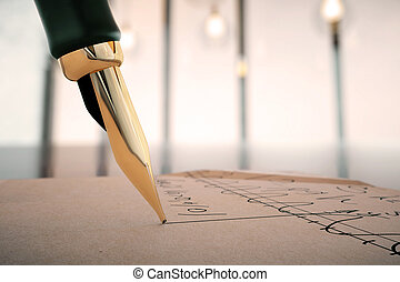 Fountain pen writing formulas