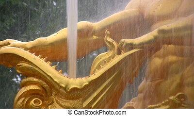 fountain. Peterhof. Petersburg. Zoom - Fountain. Peterhof....