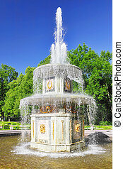 "Fountain"" Roman""  in Pertergof, Saint-Petersburg, Russia"