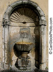 fountain in Umbria, Italy