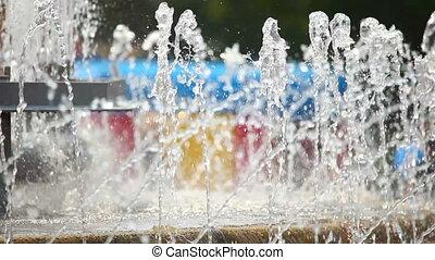 Fountain - Small fountain, close-up.