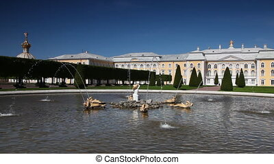 Fountain Upper Garden Oak at Royal Petrodvorets