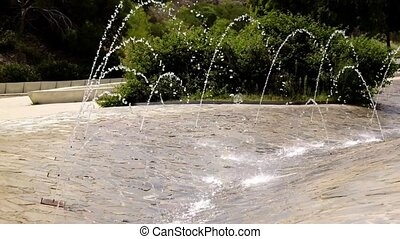 Fountain water feature in Spanish Park - Parque Aromatica
