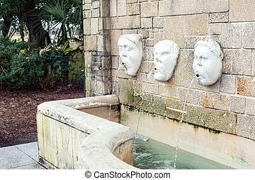 Fountain with faces