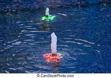 Fountain with illumination