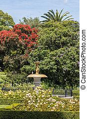 Queen's gardens in Nelson town in New Zealand