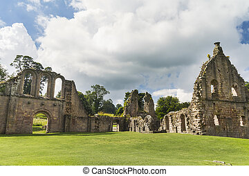Fountains Abbey medieval monastery North Yorkshire England