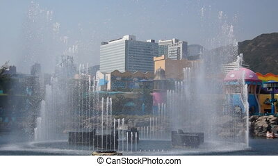 Fountains in Ocean Park, Hongkong - Common view