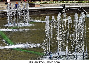 fountains in the city Park