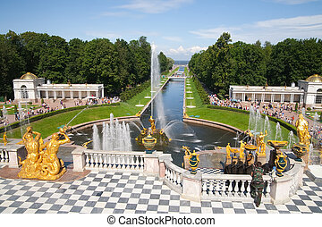 Fountains of Petergof, Saint Petersburg, Russia