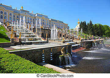 Fountains of Petergof. Saint Petersburg, Russia