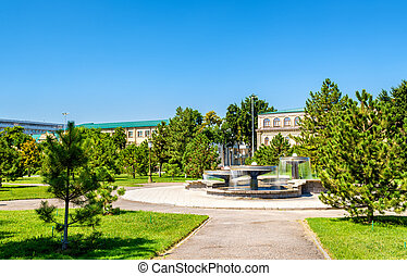 Fountains on Amir Temur Square in Tashkent, Uzbekistan