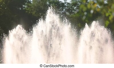 Fountains outdoor, slow-mo. - Fountains outdoor slow-mo....