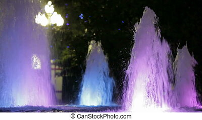 Fountains with backlight