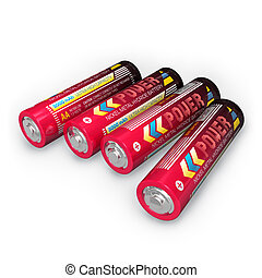 Four AA batteries