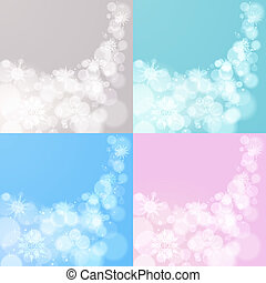 Four abstract Christmas backgrounds - Abstract Christmas...